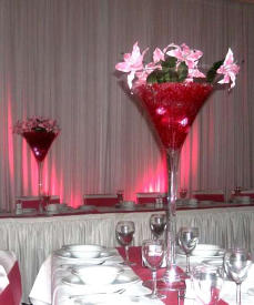 Hire Giant Martini Glass Centrepiece