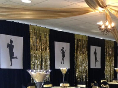 Hire shiny drapes, wall posters designed to order