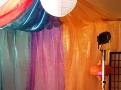 Hire Organza drapes - good lengths many colours