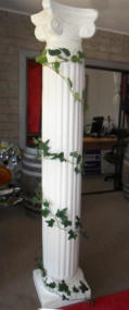 Hire Ionic Greek Columns with Ivy