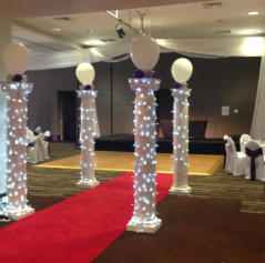 Hire Ionic Greek Columns with Fairy Lights