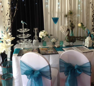 Wedding themes - hire items in 'variations on Blue'